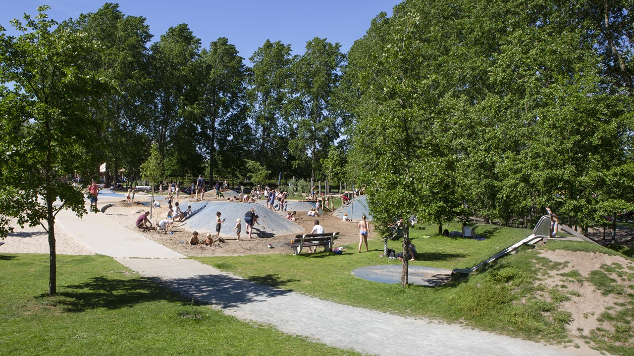 Project Puyenbroeck - Waterspeelplaats in recreatiegebied